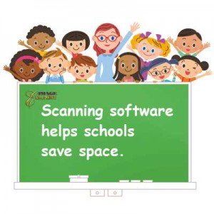 Scanning software helps schools save space.